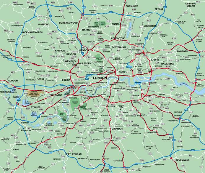 Map of London – Map of London Uk