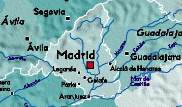 Detailed Map of Madrid, Spain