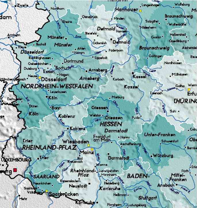 Index of maps – Map Southern Germany