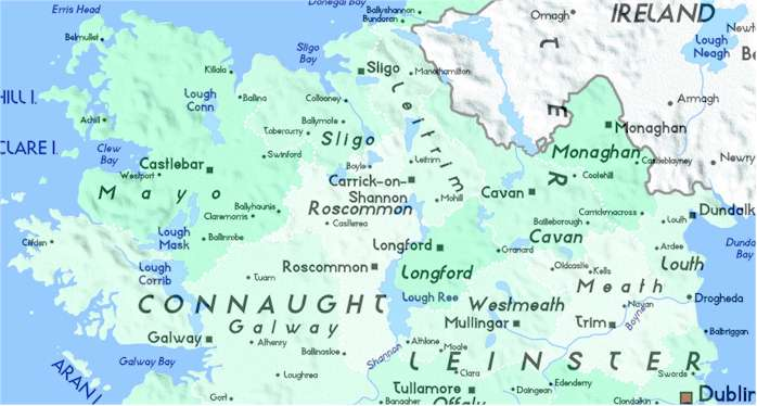 Detailed Map Of Ireland County Meath Galway Mayo Monaghan: County Meath Ireland Map At Slyspyder.com